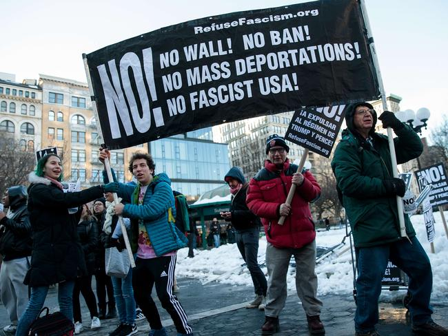 Cities that defy the President's immigration order would be stripped of funding under a bill currently before Congress. Picture: Drew Angerer/Getty Images/AFP