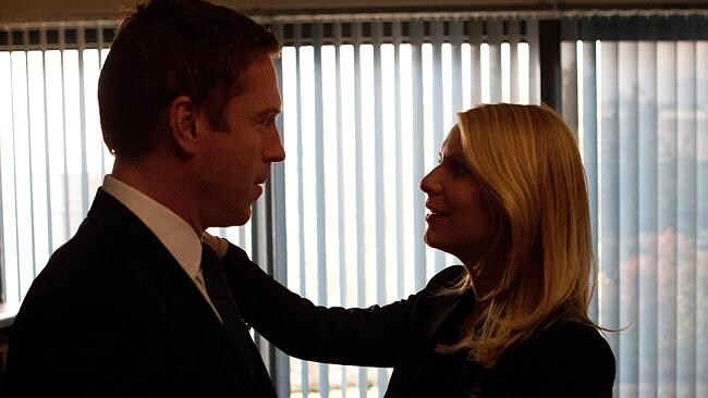 Nick Brody (Damian Lewis) and Carrie Mathison (Claire Danes) in the final episode of series two. Photo: Supplied/Network Ten