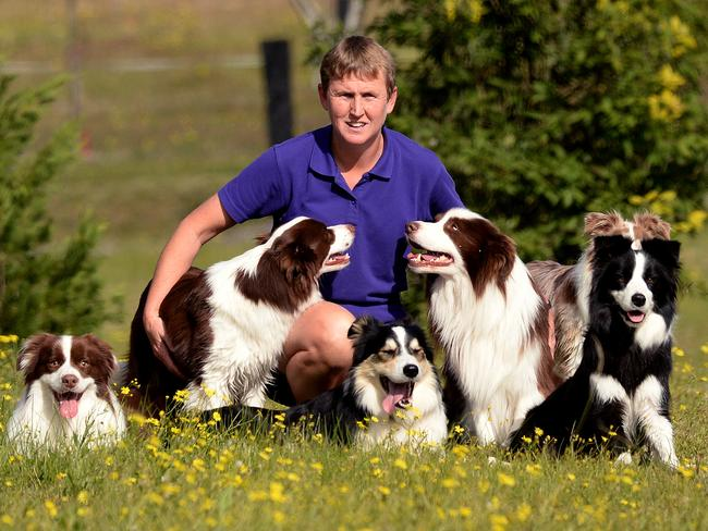 Kelly Gill, a dog trainer with more than 20 years' experience, will be taking part in the Border Collie Fun Day tomorrow at Castle Hill. Picture: Peter Lorimer