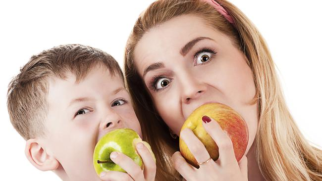 Be healthy for your health and that of your child ... The first three years of a child's diet programs their eating preferences for life. Picture: Thinkstock.