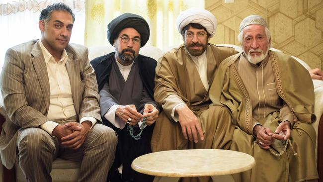 "Hilarity ... Don Hany (third from left) as a Muslim cleric in the ""truly original"" romantic comedy Ali's Wedding. (Matchbox Pictures)"