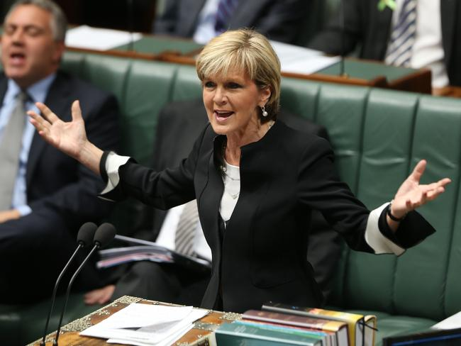Why go to an election? Julie Bishop says government doesn't have to pull the double dissolution trigger. Picture: Gary Ramage
