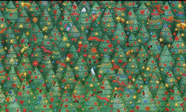 Can you spot the robin in this Christmas puzzle?