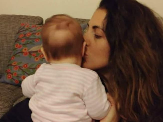 The new mum said it was her first experience of mum shaming. Picture: Leesa Smith
