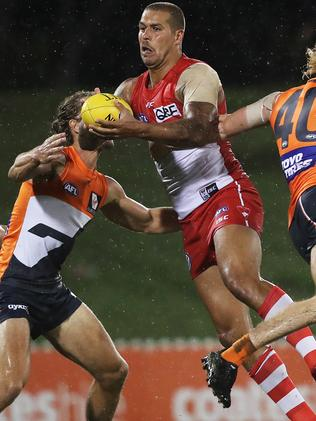 Watch Buddy Franklin and the Giants on Fox Footy. Picture. Phil Hillyard