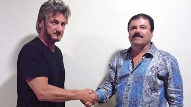 Sean Penn secretly interviewed 'El Chapo' before his recapture — Photo Supplied Twitter The Hill