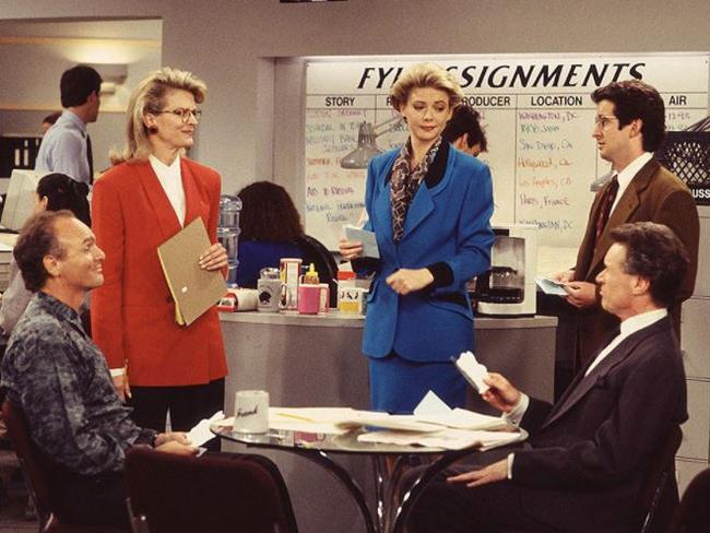 Candice Bergen and the cast of Murphy Brown. Picture: Supplied