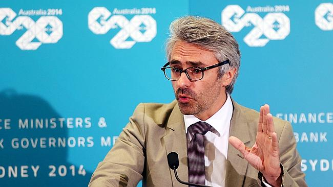 Getting down to business ... OECD Director Pascal Saint-Amans in Sydney during G20 proceedings. Picture: Sam Mooy
