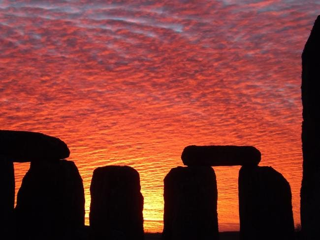 A sunset at Stonehenge. Picture: Stonehenge Stone Circle