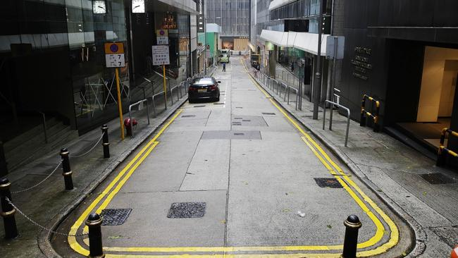 Typhoon empties streets ... A general view of an empty Hong Kong CBD on September 23, 2013. (Photo by Jessica Hromas/Getty Images)