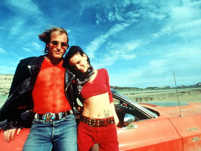 Woody Harrelson and Juliette Lewis as seen in Stone's Natural Born Killers. Picture: Supplied