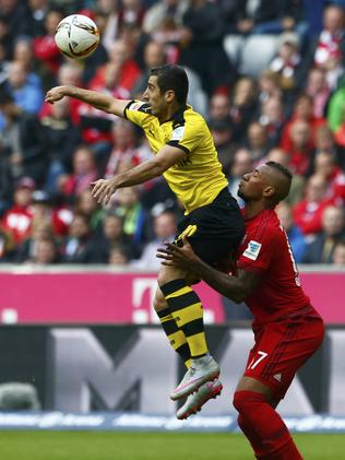 Henrikh Mkhitaryan (L) in Germany.