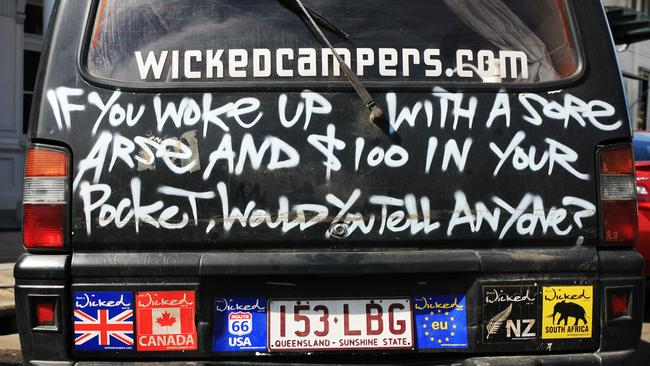 Wicked Camper van design. Is it offensive?
