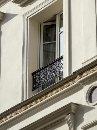 A third-floor window on the level from which Dan Single fell.