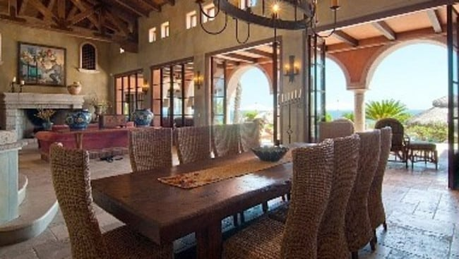 Villa Vista Ballena, Los Cabos. Villa luxury, Mexican-style, comes with everything from exposed beam ceilings to stone tiles and wall features. Picture: HomeAway.com.au