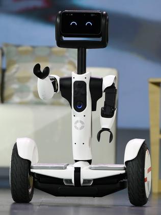 Meet your new robotic friend ... The new self-balancing Ninebot Segway personal transportation robot. Picture: Ethan Miller