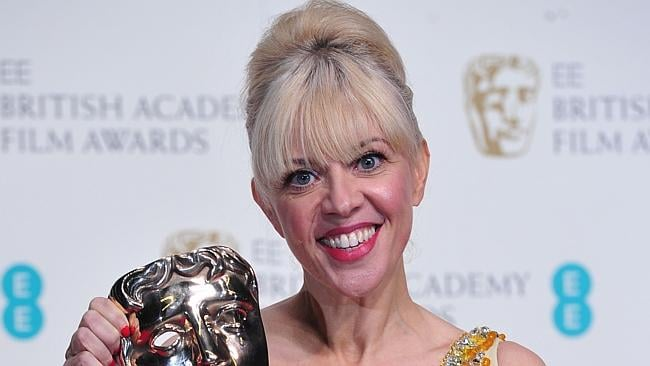 Winner ... costume designer Catherine Martin with the BAFTA award for costume design for