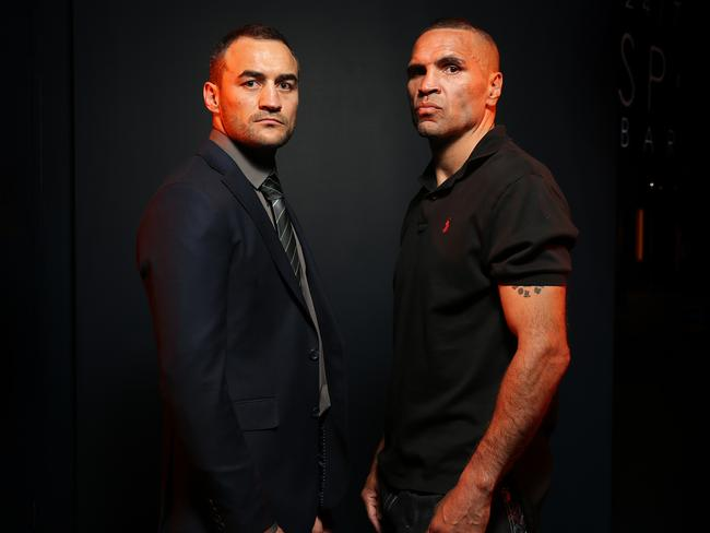 Tommy Browne and Anthony Mundine will fight it out for a top 10 ranking in the WBO's middleweight division. Picture: Richard Dobson