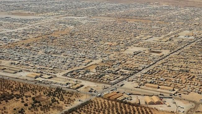 Al Za'atri refugee camp is now in Jordan's fourth-largest city. Picture: AFP/Getty images.