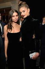 Emily Ratajkowski and Taylor Hill attend the 2018 InStyle and Warner Bros. 75th Annual Golden Globe Awards Post-Party at The Beverly Hilton Hotel on January 7, 2018 in Beverly Hills, California. Picture: Getty