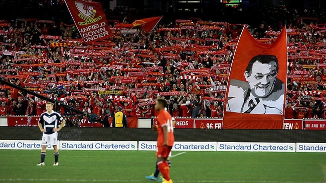 The MCG was a sea of red for Liverpool's clash with Melbourne Victory. Picture: Colleen Petch