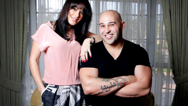 Shane at home with his wife Maha, who inspired the name of his restaurant. Picture: Nicole Cleary