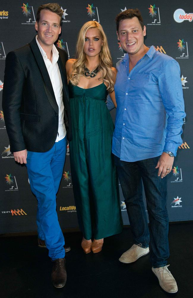 Jules, Sophie and Merrick ... the 2Day FM breakfast show hosts return next week with special guests Cameron Diaz and Jason Segal.