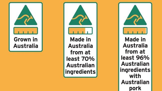 Country of origin food label concepts.