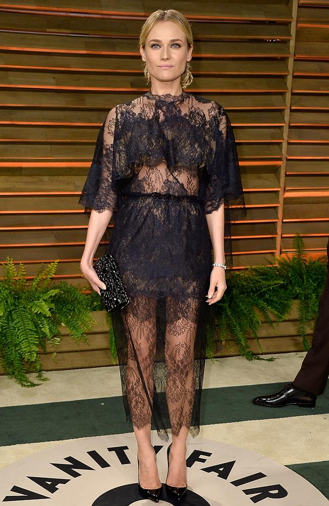 Actress Diane Kruger attends the 2014 Vanity Fair Oscar Party hosted by Graydon Carter on