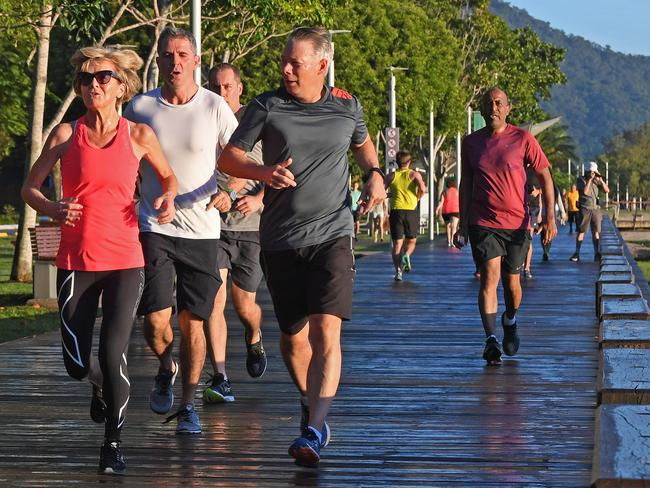 Julie Bishop is an incredibly busy woman, yet even doesn't skip the morning run. Picture: AAP/Brian Cassey