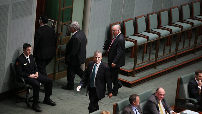 The ejection saw other National MPs stage a walkout in protest over Mr Slipper's move. Picture: Gary Ramage