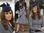 <p>Catherine, the Duchess of Cambridge during an ANZAC Day commemorative service at the Australian War Memorial wearing a custom made hat by Sydney-based milliner, Jonathan Howard. Picture: Getty</p>