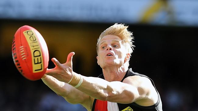 Nick Riewoldt and the Saints have come close to a flag but it's been just out of reach on a couple of occasions. Picture: Alex Coppel