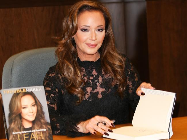 Leah Remini signs copies of her book, Troublemaker: Surviving Hollywood and Scientology, in 2015. Picture: Paul Archuleta/Getty Images