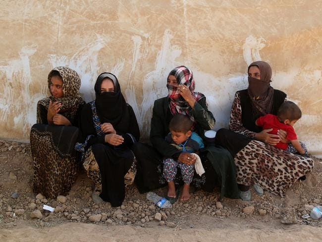 ISIS have now banned women from wearing burkas in security centres in the Iraqi city of Monsul. Picture: Yunus Keles/Anadolu Agency/Getty Images