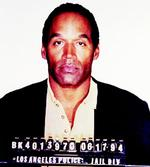 "Pictures of the Year, former Hall of Fame gridiron player & actor OJ (""Juice"") Simpson shown in official Los Angeles Police Department booking photo following arrest for two murders (former wife Nicole Brown Simpson & friend Ronald Goldman)."