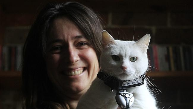 Imogen Semmler poses with Cat Suki. Picture: Daniel Munoz