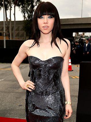 Canadian Carly Rae Jepsen arriving on the red carpet.