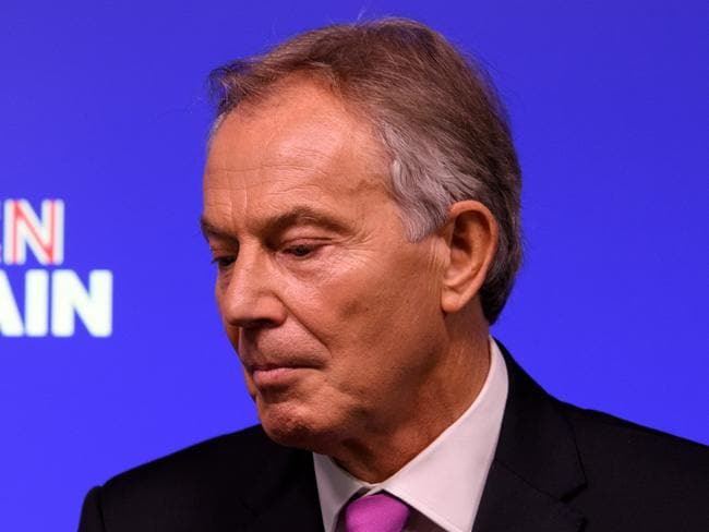 Former British Prime Minister Tony Blair delivers a keynote speech at a pro-EU event on February 17, 2017 in London, England. Picture: Getty.