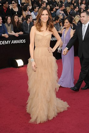 Actress-writer Kristen Wiig arrives at the 84th Annual Academy Awards on February 26, 2012. Picture: Jason Merritt/Getty Images