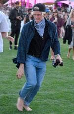Cody Simpson is a budding photographer at Coachella. Picture: Splash News