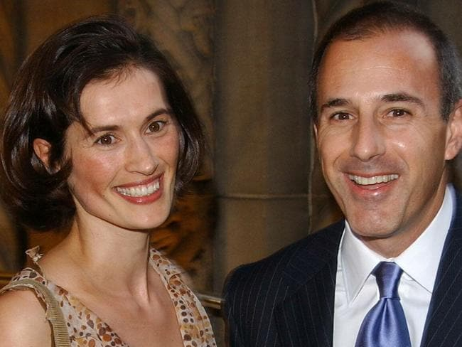 Matt Lauer and Annette Roque in 2004. Picture: Splash