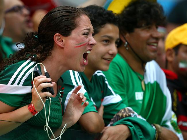 Mexico fans looked pretty stressed during the first half against Croatia.