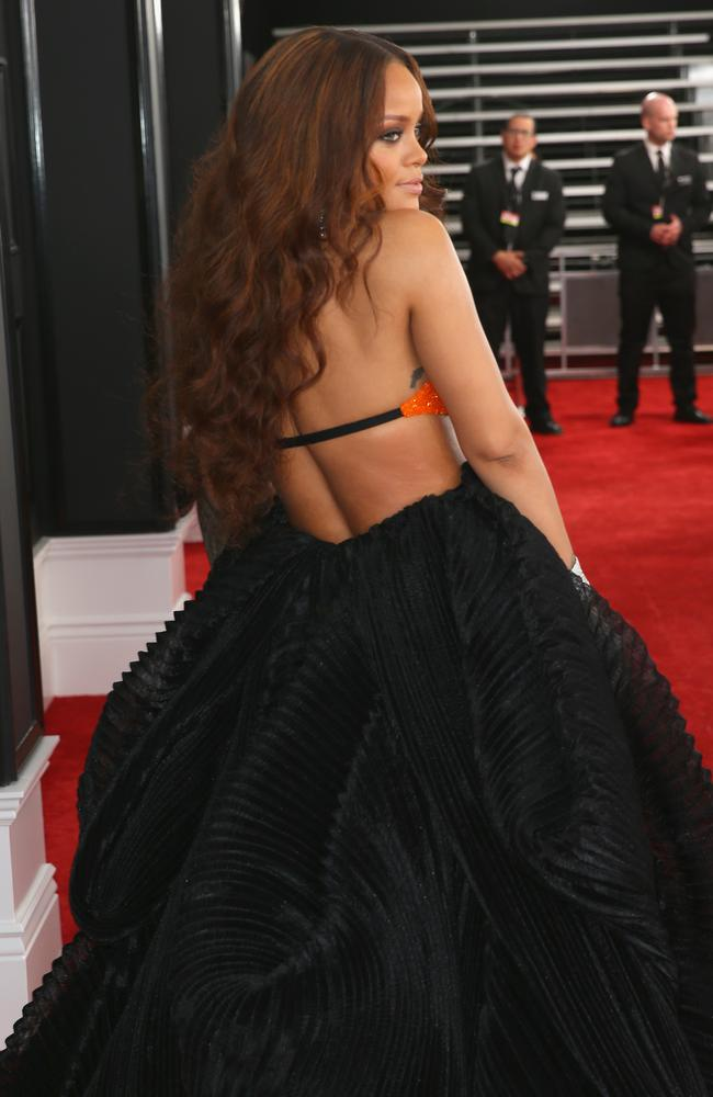 Rihanna is back at the Grammys. Picture: Getty Images