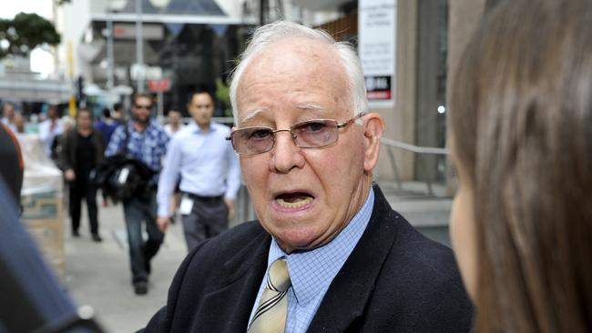 Gordon Grant after he finished giving evidence to the Royal Commission about the abuse he suffered at the hands of the Christian Brothers.