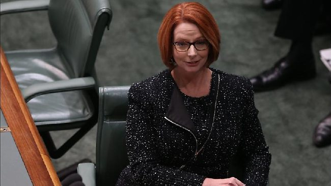 Julia Gillard during Question Time today. Picture: Kym Smith