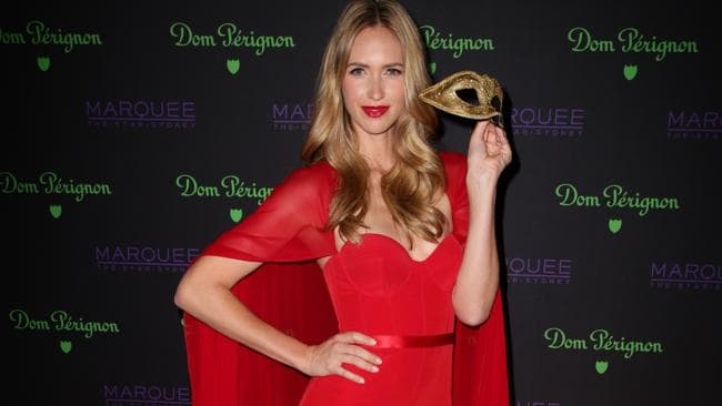Nikki Phillips at the Dom Perignon Masquerade Party held at Marquee at The Star Casino in Pyrmont.