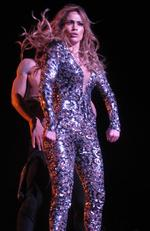 Jennifer Lopez performs the opening night of her All I Have residency at Planet Hollywood in Las Vegas. Picture: Splash News Australia