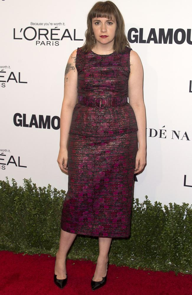 Lena Dunham attends 2016 the Glamour Women Of The Year Awards in Hollywood.