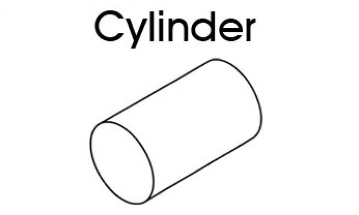 3D shapes for kids: Cylinder